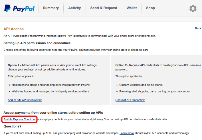 Enable Paypal checkout express – BaseKit Support